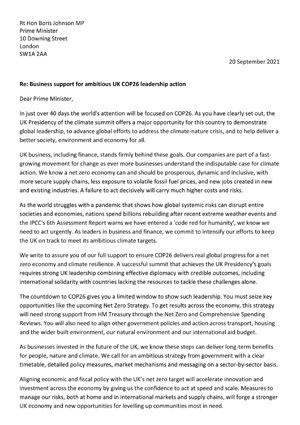 BGA business letter image