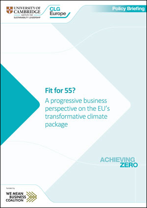 Fit for 55? A progressive business perspective on the EU's transformative climate package
