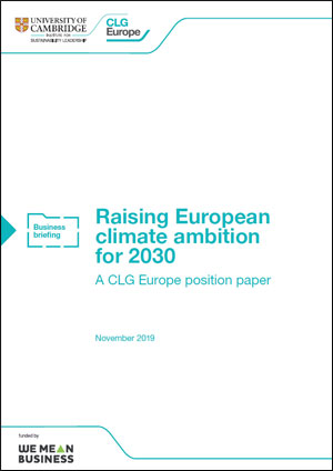 Raising European climate ambition for 2030