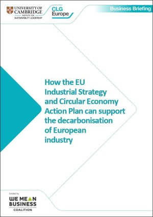 EU industrial strategy and CEAP business briefing