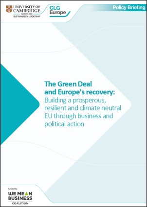 Green Deal EU recovery