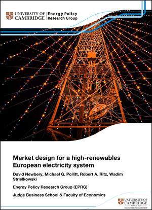 Market design for a high-renewables European electricity system