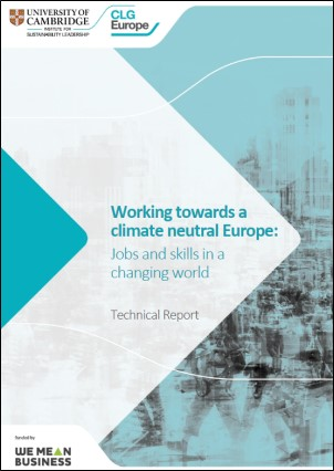 Technical report Working towards a climate neutral Europe