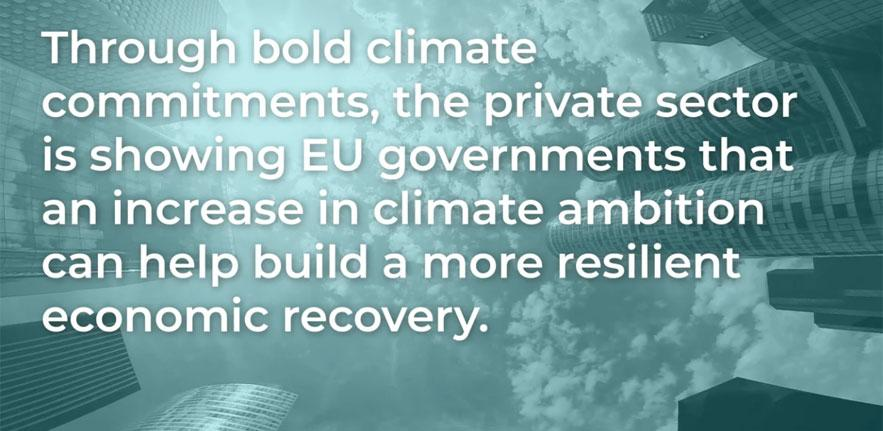 Business and investor CEO letter on EU 2030 GHG emissions targets