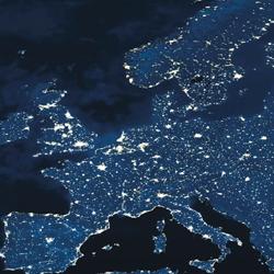 Europe light map